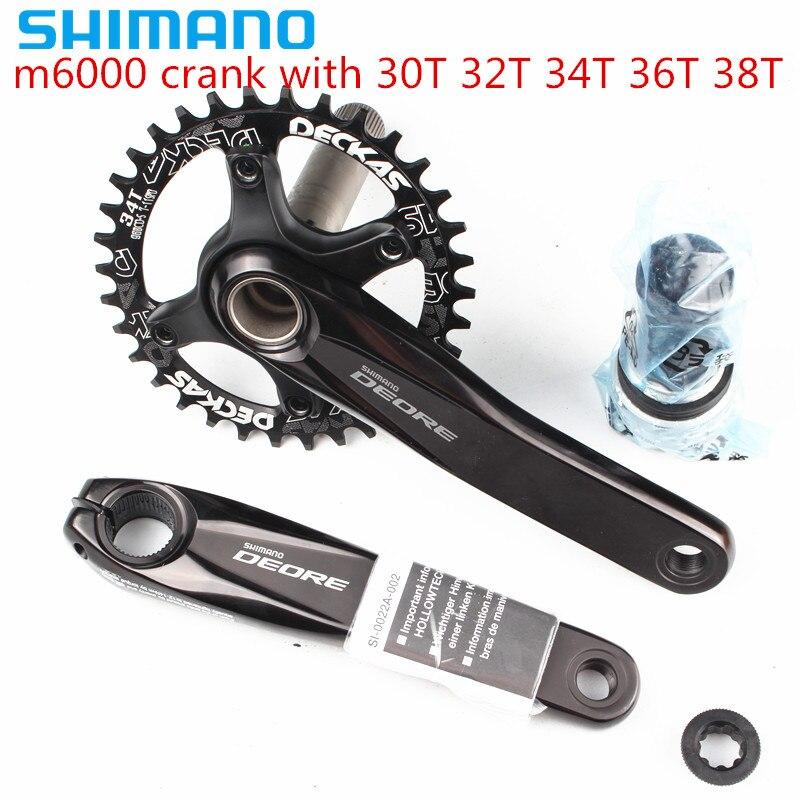 Shimano DEORE m6000 11 скоростной велосипед mtb коленчатый набор с dekas 96BCD узким Широким Кольцом 30T 32T 34T 36T 38T с BB52|Шатун и передняя звездочка велосипеда|   | АлиЭкспресс