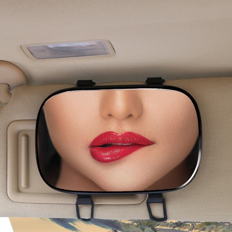YASOKRO Car Interior Mirror Sun visor Makeup Mirror Car Interior Sun-Shading HD Cosmetic Mirror Auto Vanity Mirror Car Styling