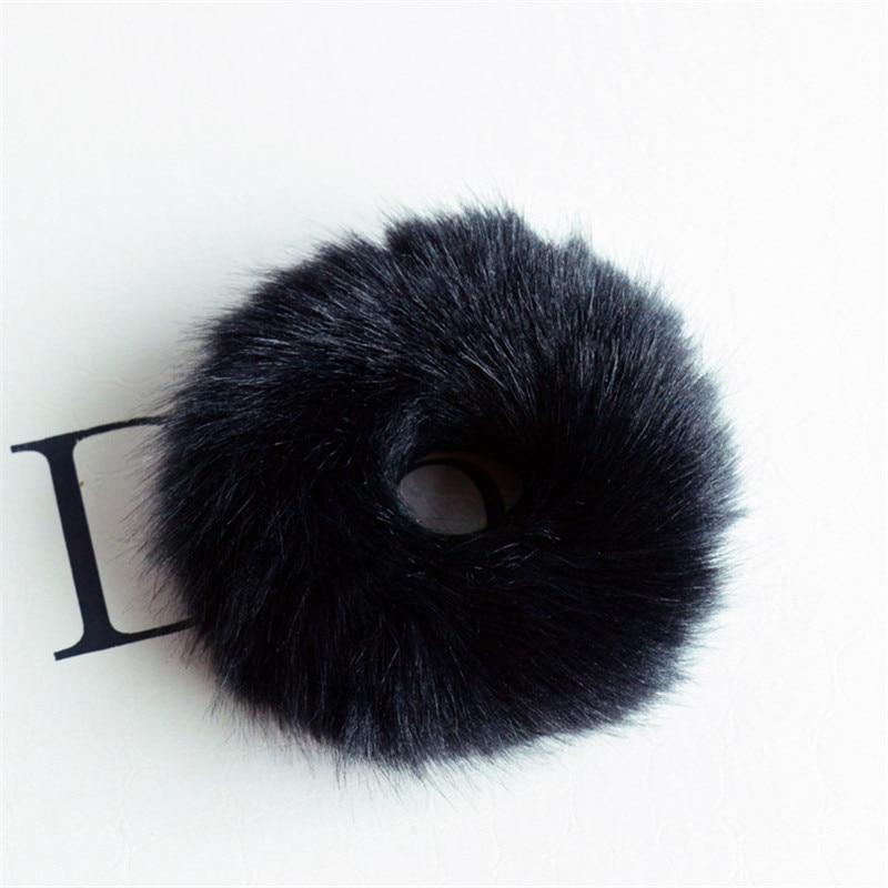 Резинки для волос резинка для волос Милые эластичные резинки для волос для девочек, искусственный мех, резиновое кольцо, веревка, пушистый бант аксессуары для волос, пушистая резинка на голову