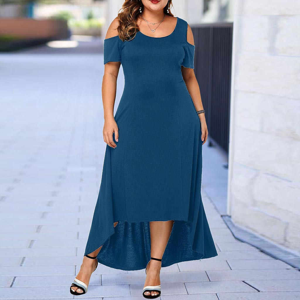 L-5XL 2019 summer Long Dress Women Large Size Loose Elegant Maxi Dress Casual Plus Size Women Clothing Party Floor Length Dress