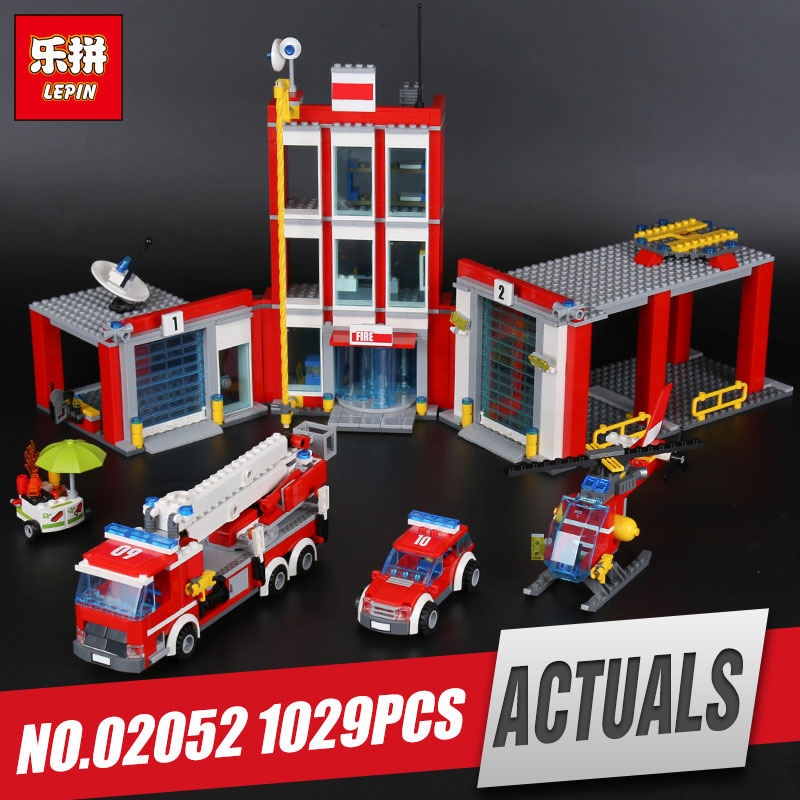 Lepin 02052 Genuine 1029Pcs City Series The Fire Station Set 60110 Building Blocks Bricks Educational Toys As Christmas Gift the mortal instruments 6 city of heavenly fire