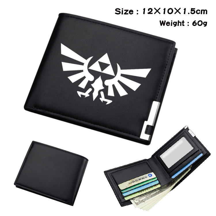 Game Wallet The Legend Of Zelda Cartoon Multi-function Plush/PU Leather Purses Handbag Cosplay Carnival Party Adult Child Unisex