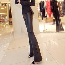 Lulu Leggings Hot Sale Polyester Regular Elastic Waist 2016 Autumn New Fashion Ladies Leather Pants Women