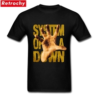 System Of A Down T Shirt Men SOAD Tee Shirt EAGLES OVERCOME ROCK METAL MUSIC Hand