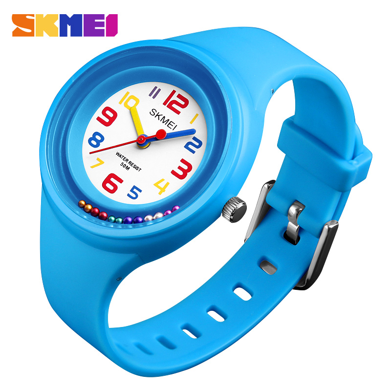 SKMEI NEW Kids Watches Colorful Quartz Wristwatch 50M Waterproof Alarm Clock Boys Girls Children Watches 1386 Reloj Mujer