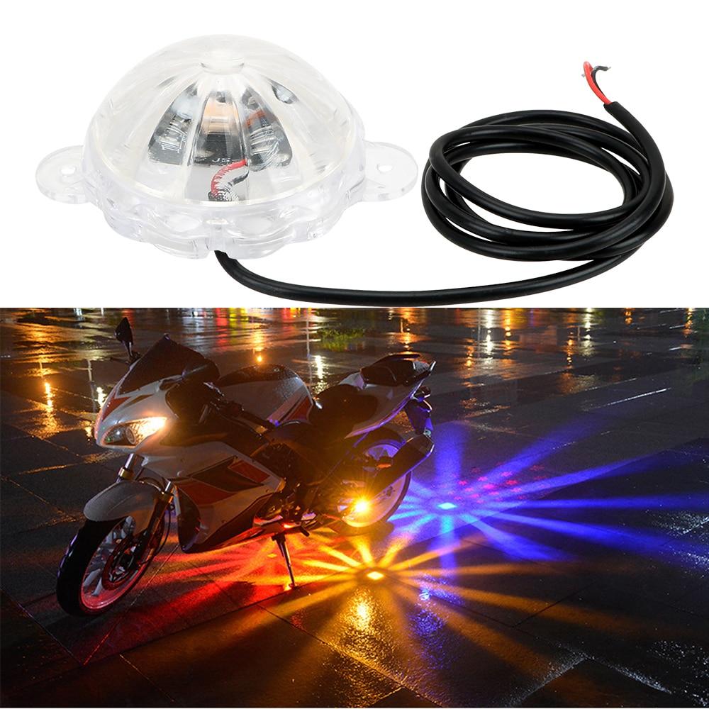 LEEPEE Motorbike Flash Strobe Light Atmosphere Lamp Moto Chassis Light Motorcycle Lighting DC 12V LED Atmosphere Lamp