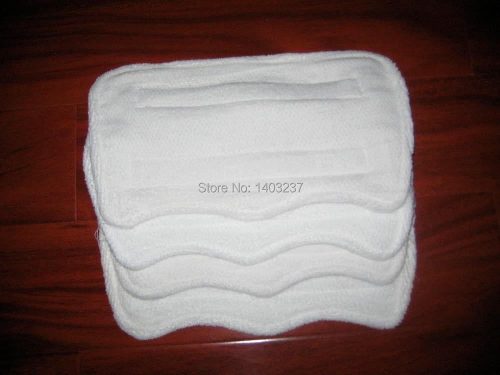 4pcs Euro Pro Shark Steam Mop Replacement Microfiber Pads S3250, 3250, S3202, 3202,S3101, 3101 5 replacement microfiber pads cleaning pads for h2o x5 steam mop