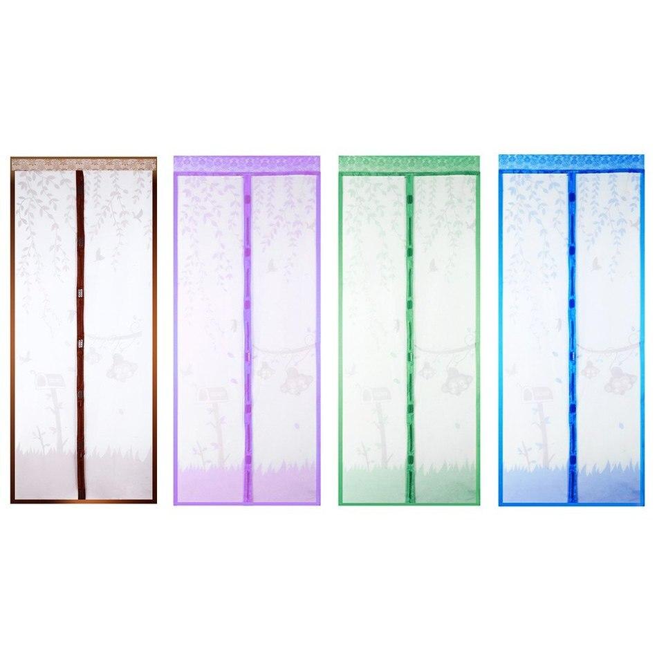 100x210 cm 4 couleur rideau anti moustique magntique tulle rideau de douche fermeture de porte automatique - Rideau De Douche Color