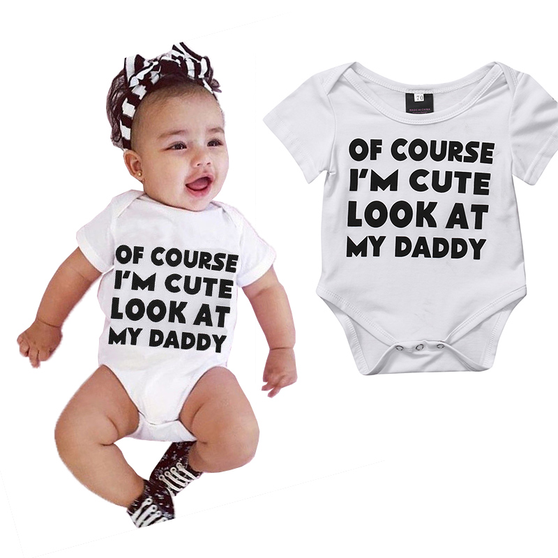 Letters Newborn Baby boys girls Bodysuits onesie Infant Babies Boy Girl Cute Cotton Bodysuit one-pieces Outfits Kids Clothing