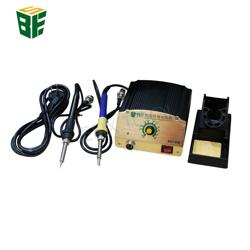 Suction tin soldering station Thermostat electric soldering iron Thermostat soldering station for Electronic products welding cxg ds90t 90w soldering iron high quality heat soldering stand welding electric soldering iron tip suction tin pump toolkit