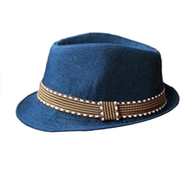 4cf75860 2018 Fashion Steampunk Kids Boy Girl Unisex Fedora Hat Contrast Trim Cool  Jazz Hat Trilby Cap
