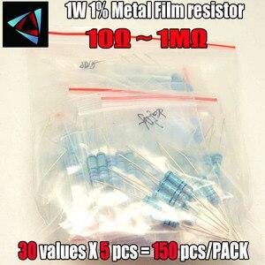 150pcs 1% 1W 30Values*5pcs=150pcs 10Ohm ~1M Metal Film Resistor Assorted Kit