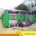 Transporte marítimo de Crianças Quadra de Futebol De Campo de Futebol Inflável Gigante Comercial Com Ventiladores