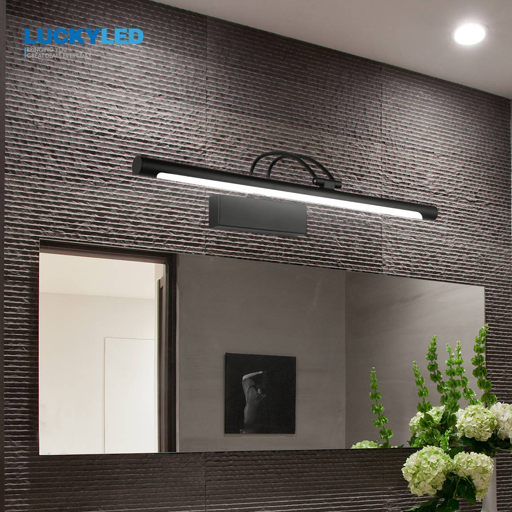 LUCKYLED Modern Led Mirror Light  8W 12W AC90 260V Wall Mounted Industrial Wall Lamp Bathroom Light Waterproof Stainless Steel-in LED Indoor Wall Lamps from Lights & Lighting