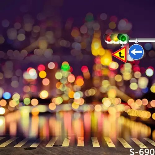 Flash Traffic Lights Photography Background Spray For Children Photos Vinyl Backdrops Muslin Digital Backgrounds Cloth Props