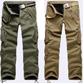 Carga Calças Tactical SWAT Combate Multi-bolsos Dos Homens Casual Calças Macacões Calças de Algodão Elástico Da Cintura Calças Do Exército Militar Masculino