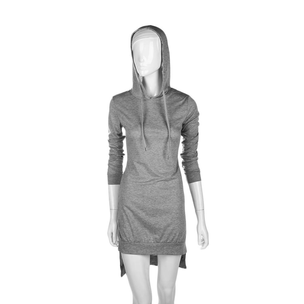 2017 Spring Autumn New Women Girl Long Sleeve warm Casual HoodiesPullover dress hooded Tops Jumper Pullover Dress brand design