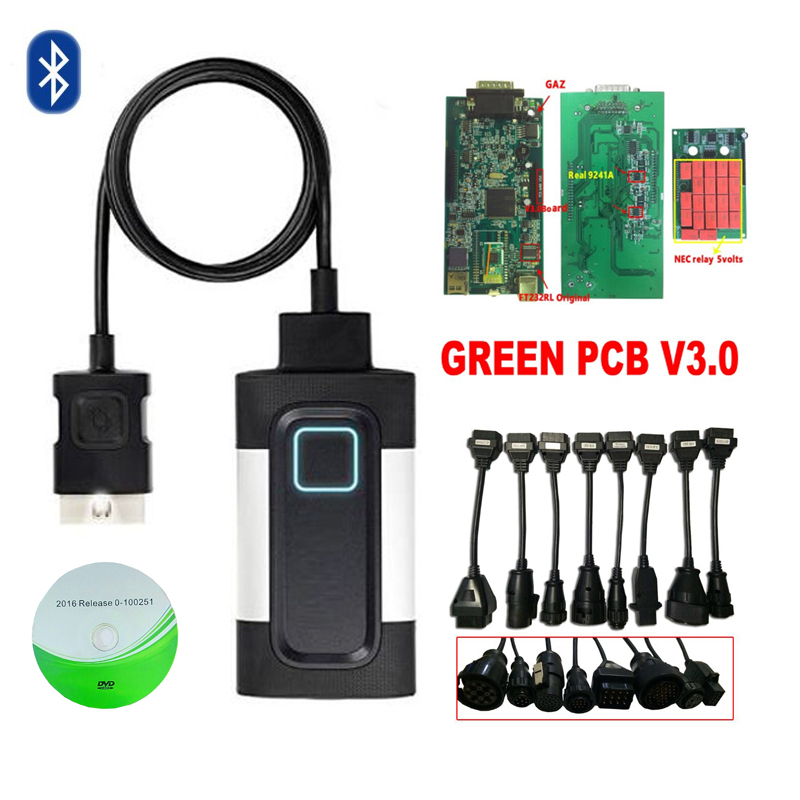 2018 Newest software 2016.R0 black vd ds150e cdp pro for autocoms scanner cars trucks 3in1 auto obd2 diagnostic tool.