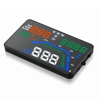 Hot sale HUD Display Q7 5.5 Inch Heads Up GPS function Digital speedometer OBD 2 Consumption Data colorful