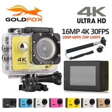 Goldfox f60/f60r действие Камера 4 К Wi-Fi 30fps 16mp 170d велосипед шлем Cam 30 м Go Водонепроницаемый Pro экстремальный Спорт DV Камера