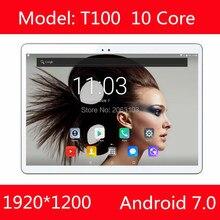 Envío Libre 10 pulgadas Android 7.0 OS 4G LTE tablet pc Deca Core 4 GB RAM 64 GB ROM 1920*1200 IPS Niños Regalo MEDIADOS tabletas