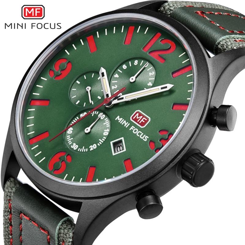 MINIFOCUS Men's Watches Analog Quartz Wrist Watch Men Waterproof Nylon Strap Military Sport Wristwatches Montre Homme Male Clock