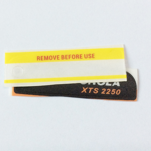 50pairsX Black Model Labels And Remove Before Use For Motorola XTS2250