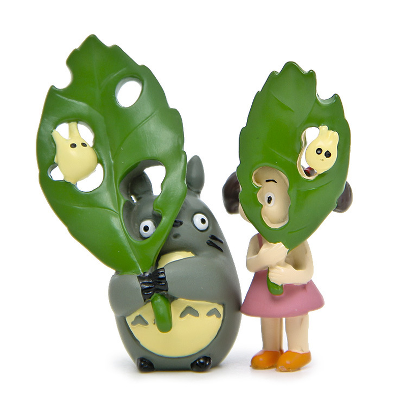 Miyazaki Hayao Totoro Mini Paisagem Brinquedos Japão Anime Toy Modelo para Diy Casa Jardim Decoração Figma Brinquedos para As Crianças