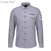 Spring Print Shirts Men Cotton Slim Fit Man Shirts Long Sleeve White Shirts For Men Clothes