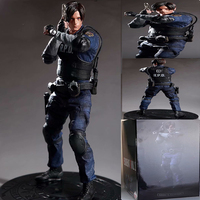 32cm Game Character Leon Scott Kennedy PVC Action Figure Model Toy Gift