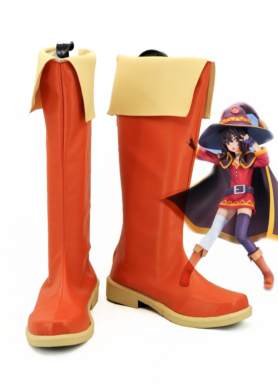 Kono Subarashii Sekai Ni Shukufuku Wo Megumin Cosplay Boots Anime Shoes Custom Made