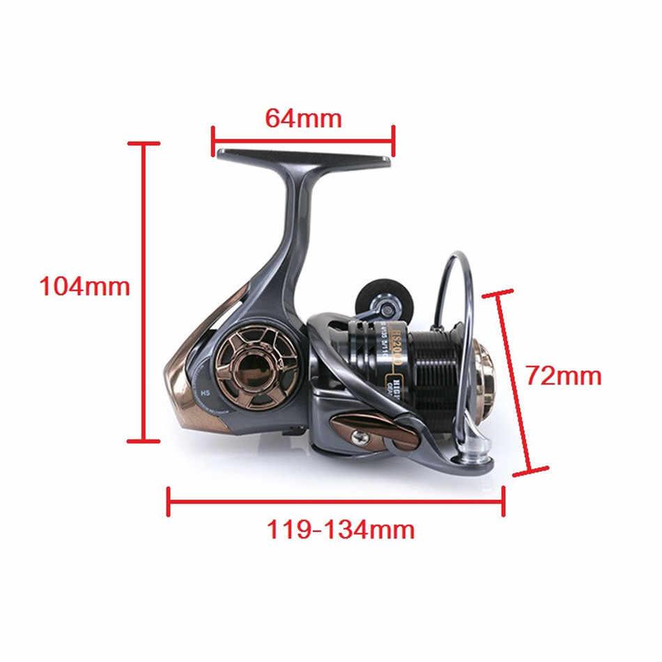 Ratio 7.1: 1 roue rotative Double tasse noir poisson moulinet de pêche nouvelle mise à niveau peu profonde route asiatique roue HS haute vitesse