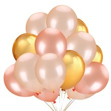 METABLE 50Pcs Rose Gold Champagne Color Latex Party Balloons -Wedding Hawaii Graduation Birthday Decoration