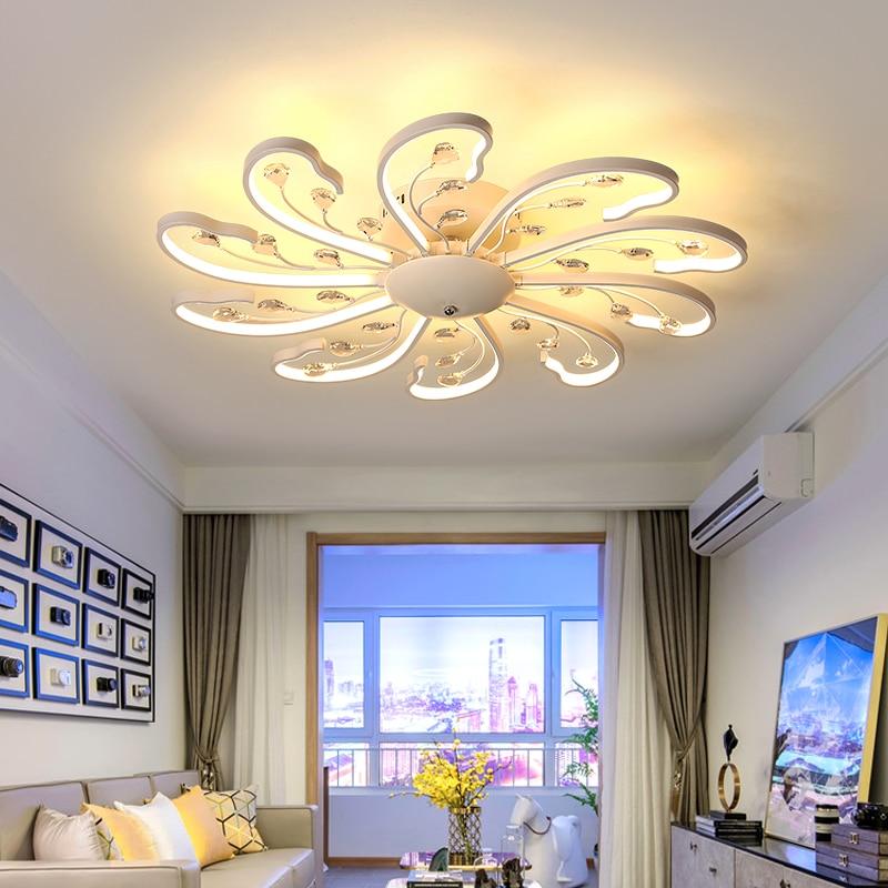 Round White Black Frame Modern Led Ceiling Light Ac85~265v Indoor Bedroom Kitchen Lamps Study Foyer Light Free Shipping Dimmable Ceiling Lights