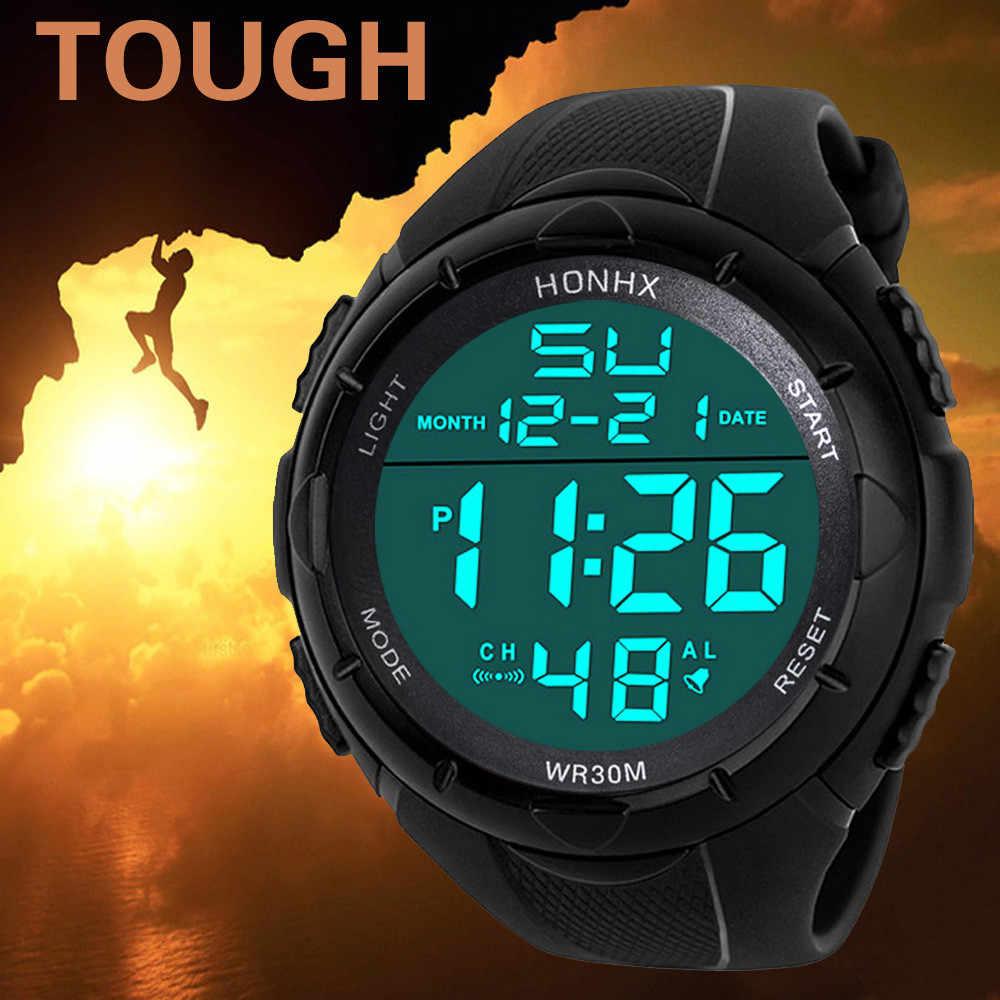 Uomini Orologio Da Polso di Lusso Militare Analogico di Sport LED Impermeabile relógios masculino reloj deportivo hombre relogio digitale