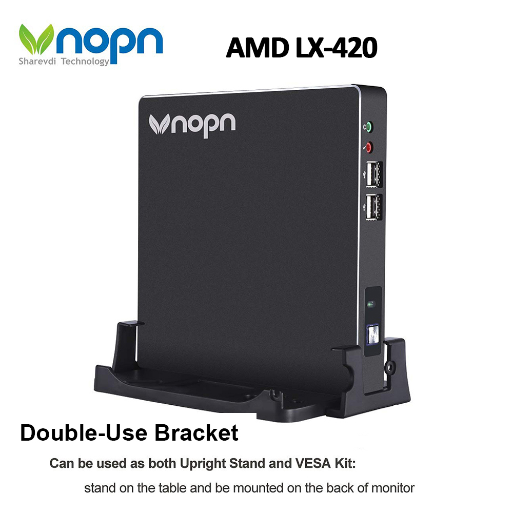 Mini PC AMD LX-420 Quad-core 2.0 GHz fenêtre 10 Pro licence OEM 1000 Mbps RJ45 LAN Mini ordinateur HDMI VGA WiFi HTPC ordinateurs de bureau