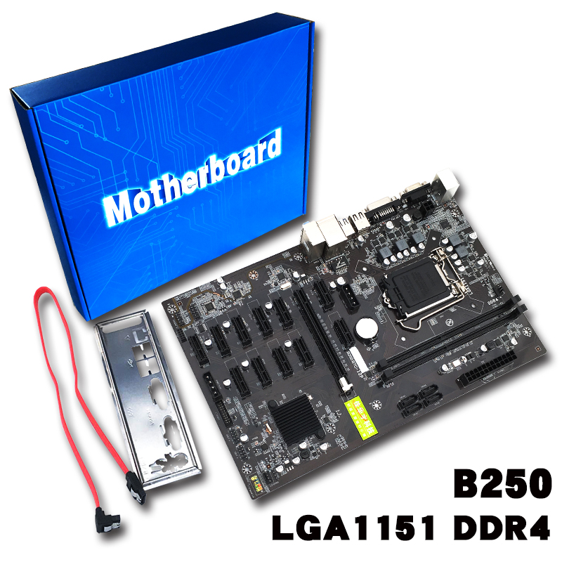 D'expert minier Carte Mère Carte Vidéo Interface Prend En Charge GTX1050TI 1060TI Conçu Pour Crypto Minière B250 Y