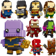Brickheadz infinito guerra Super-heróis vingadores IronMan Superman Batman Figuras Building Block Bricks Brinquedos DC(China)