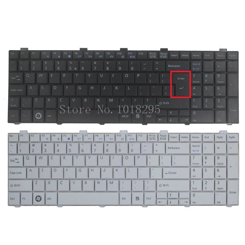 New US Keyboard For  Fujitsu Lifebook AH530 AH531 NH751 Black English Laptop Keyboard 10 8v 5800mah original new fpcbp179 battery for fujitsu lifebook s6420 s6421 s6410 s6520 s6510 s7210 s7220 fmvnbp160 fpcbp179ap