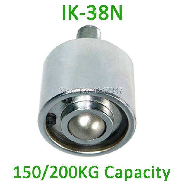 IK-38N M22 bolt steel 200kgs ball castor Loading Capacity Roller Wheel 38mm Ball Downward using IK38N Ball Transfer Unit