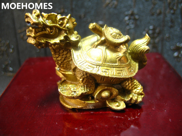 MOEHOMES China fengshui brass dragon turtle Tortoise wealth lucky statue Metal crafts Home decorations gift metal handicraft