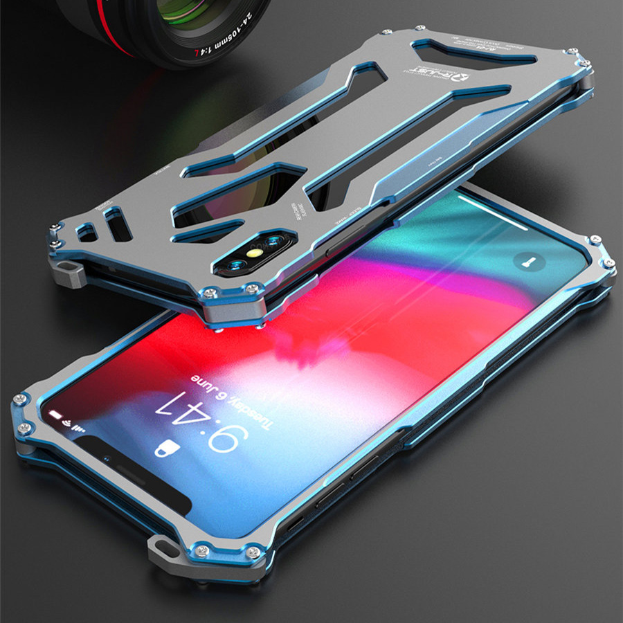 Cool Metal Phone Case For iPhone XS Max Case Cover For iPhone XS R-JUST Gundam Aluminum Case Coque Capa Funda For iPhone XR