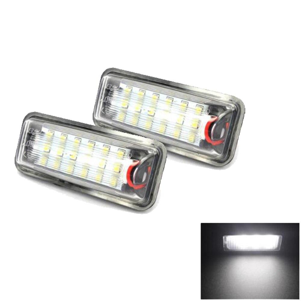 все цены на 2pcs Car LED License Plate Lights 12V SMD 3528 For Toyota Land Cruiser Prado Reiz 4D Mark X For Lexus LX470 LX570 онлайн