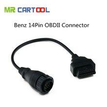 Cable conector profesional para Mersedes Benz de 14 pines OBDII OBD2, en Stock, venta al por mayor, Cables de diagnóstico de coche y conectores