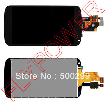 For LG Optimus E960 Google Nexus 4 Lcd Screen with Touch Screen digitizer assembly without frame by free shipping; 100% original new lcd touch screen digitizer with frame assembly for lg google nexus 5 d820 d821 free shipping