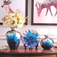 3pcs/Set Hand painted ceramic vase Antique Porcelain flower with vase vases for flowers wedding decoration home decor moderno