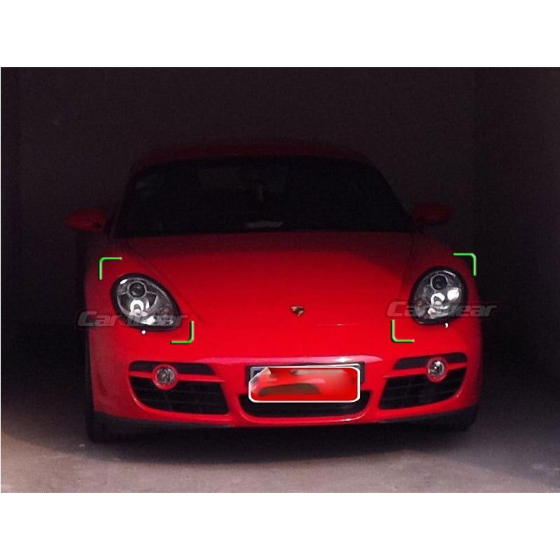 for Porsche Boxter Cayman S 987 Carbon Fiber Eyebrow Eyelid Headlight Cover 2005-2008