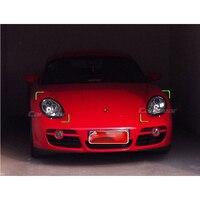 for Porsche Boxter Cayman S 987 Carbon Fiber Eyebrow Eyelid Headlight Cover 2005 2008