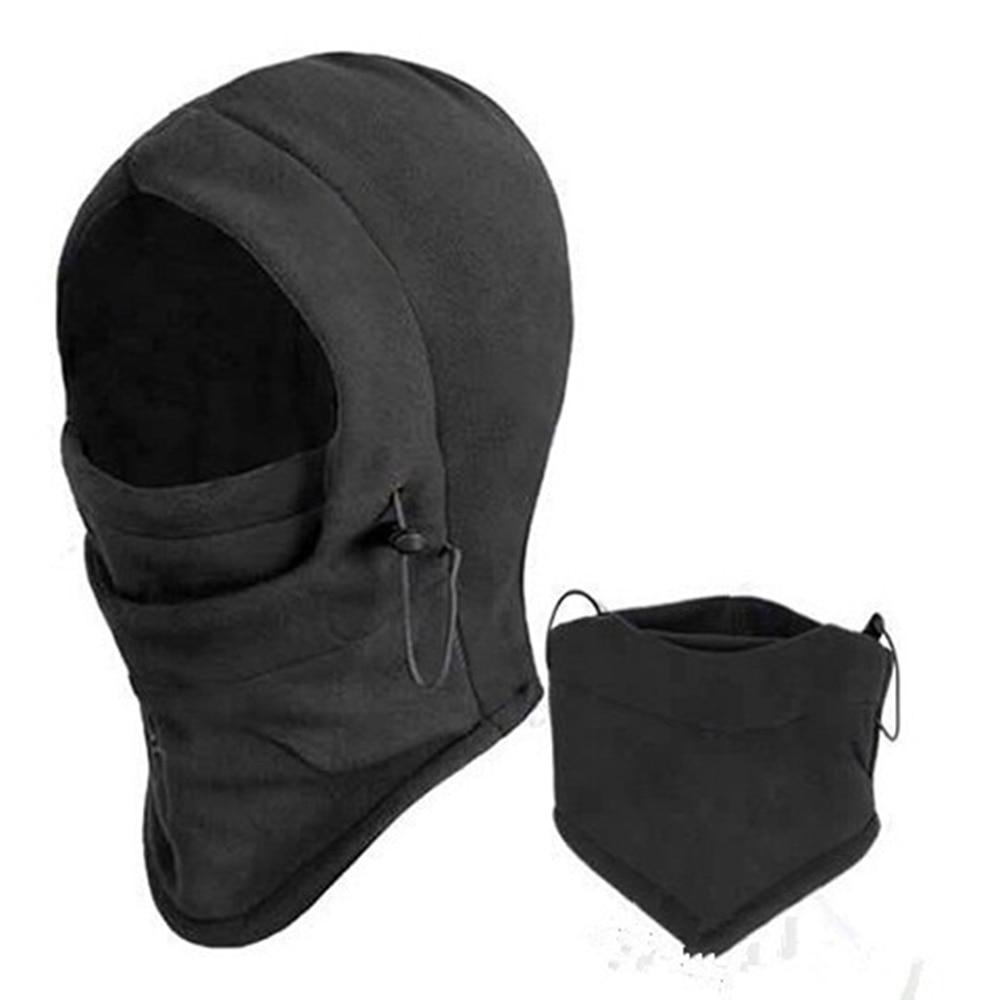 LEEPEE Motorcycle Bicycle Face Mask Thermal Fleece Balaclava Hood Police Swat Ski Bike Wind Winter Stopper Cs Mask Outdoor Warm