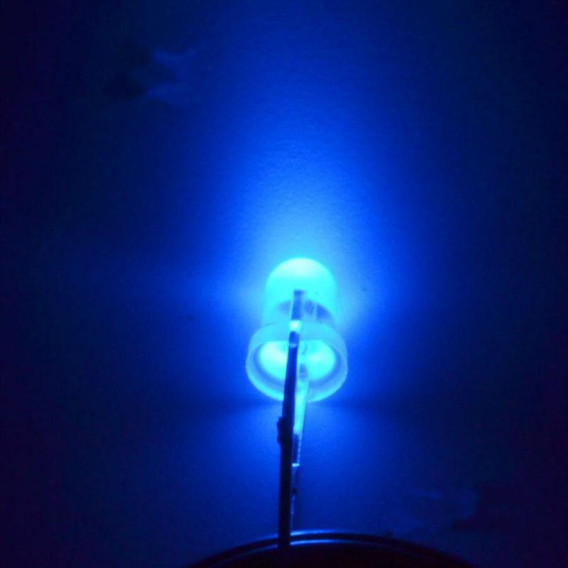 5MM LED Light-Emitting Diodes Blue Glow Blue Light Highlighted Luminous Tube